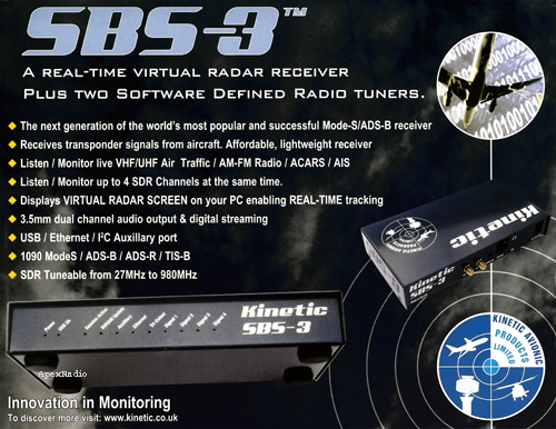 Kinetic Avionic SBS-3 virtual radar