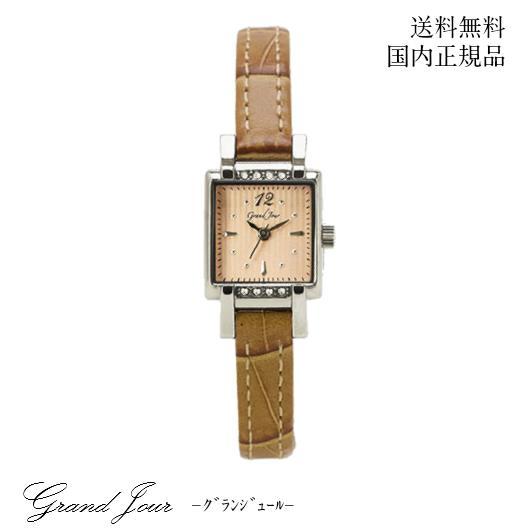 【送料無料】GrandJour グランジュール クラシカル アンティーク ウォッチ GJ74-BE 腕時計 女性 レディース 上品 洗練 大人 アクセサリー ブレスレット 華奢