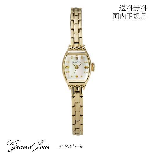 【送料無料】GrandJourグランジュール クラシカル アンティーク ウォッチ GJ79-G 腕時計 女性 レディース 上品 洗練 大人 アクセサリー ブレスレット 華奢