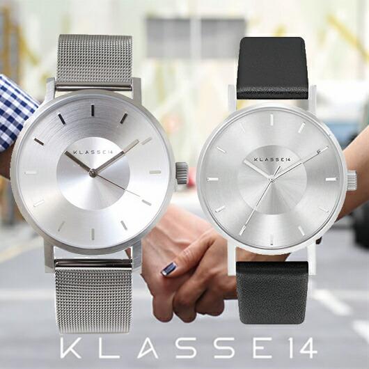 【送料無料】並行輸入品 KLASSE14 クラスフォーティーン VO14SR002M VO14SR001W ペア 腕時計 メンズ レディース イタリア製高級レザー ステンレススチール ギフト 贈り物 プレゼント クリスマス シンプル ペアウォッチ おしゃれ WATCH watch