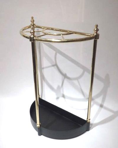 ハーフムーンデザインのイタリア傘立て(真鍮/ゴールド) 玄関 店舗 お店 豪華 エレガント ヨーロッパ 輸入 インテリア お洒落
