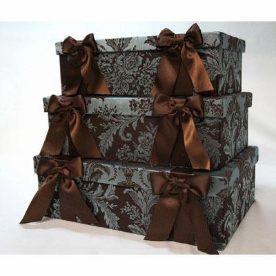 ボックス3個セット(リボン/グリーン) ジェニファーテイラー エレガント タッセル フサ インテリア 輸入 お洒落 可愛い リビング アメリカ デザイナー ブランド 海外