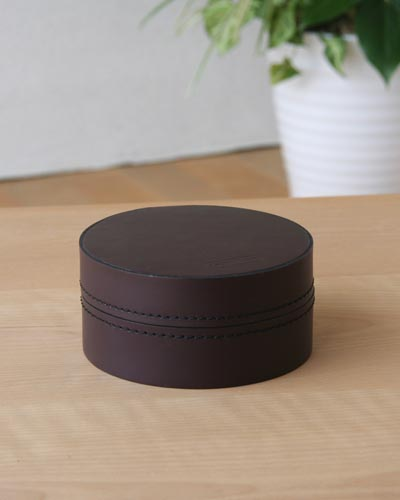 コインボックス(オールドブラウン小) 小物入れ 収納 イタリア製 モダン 牛革 高級 インテリア デザイン ヨーロッパ 便利