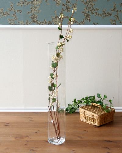 モダンでスタイルの良い縦長のガラス花瓶(イタリア/クリヤー) イタリア インテリア 飾り クラシック オブジェ 海外 お洒落 玄関 リビング 店舗