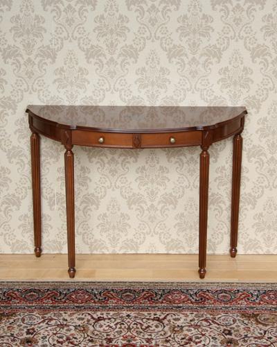 コンソールテーブル(象嵌/引出し付) イタリア家具 玄関 インテリア 輸入家具 クラシック家具 お洒落 高級 エレガント 飾り台