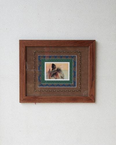 シンプルな木製額を綺麗に飾った インテリアのアクセントになる壁掛け絵画 入手困難 壁掛けインテリア絵画 全国どこでも送料無料