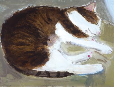 久下 貴史 絵画・アート(版画)/いかにも猫のフェデリコ/ねこ・ネコ・猫