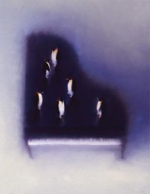 牧野千穂 絵画・アート(版画)/ペンギンたちのためのE.サティ/ペンギン
