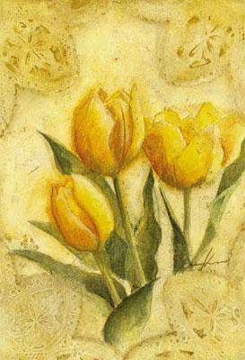 カワモト エイキ 絵画・アート(版画)/This flower for you Tulips/花