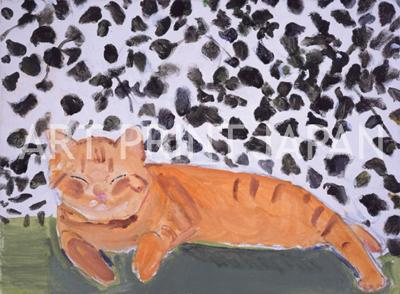 久下 貴史 絵画・アート(版画)/5月の美しい日のように/ねこ・ネコ・猫