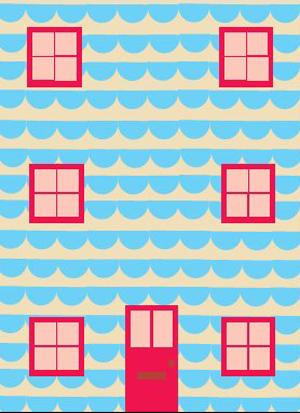 ドナ・ウィルソン 絵画・アート(版画)/The tiled house/メルヘン