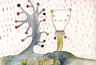 ドナ・ウィルソン 絵画・アート(版画)/The macaron tree/メルヘン