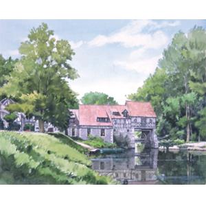 奥津 国道 絵画・アート(版画)/静かなるセーヌの畔/海外の風景
