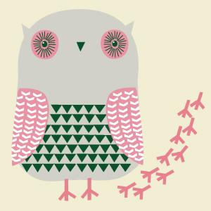 ドナ・ウィルソン 絵画・アート(版画)/pink foot prints(ピンクの足跡)/トリ・鳥