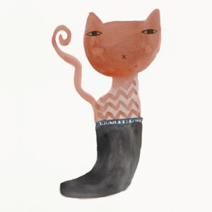 ドナ・ウィルソン 絵画・アート(版画)/puss in boot(長ぐつに入ったネコ)/ねこ・ネコ・猫