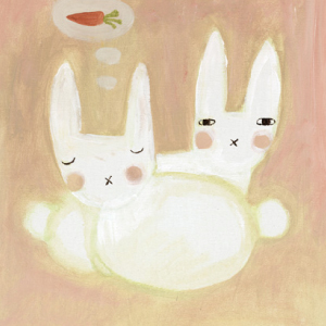 ドナ・ウィルソン 絵画・アート(版画)/sweet dreams bunny(夢見るバニー)/ウサギ・うさぎ