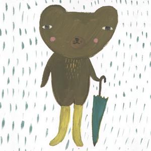 ドナ・ウィルソン 絵画・アート(版画)/brolly bear(傘を持ったクマ)/動物