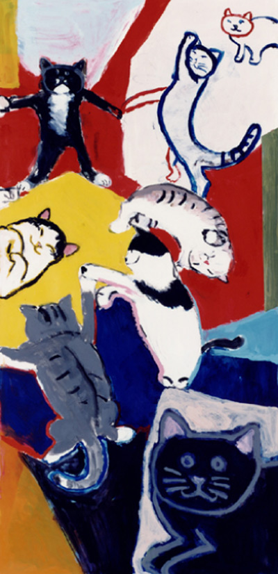 久下貴史 絵画・アート(版画)/この輪の中では何でも起こる/ねこ・ネコ・猫