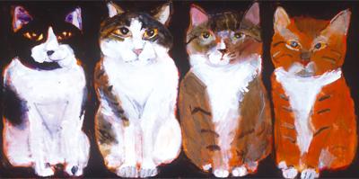 久下貴史 絵画・アート(版画)/ようこそ猫の世界へ/ねこ・ネコ・猫