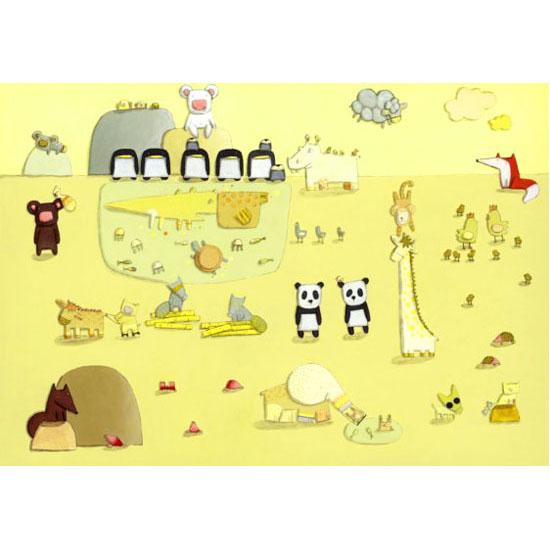 キロメロ 絵画・アート(版画)/イン ザ メドレー/動物