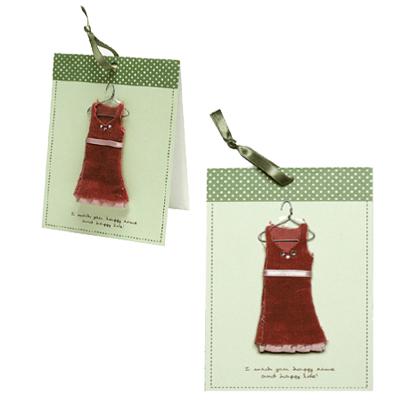 多目的カード 期間限定特別価格 定番キャンバス ファッションパーツ多目的カード ワンピース