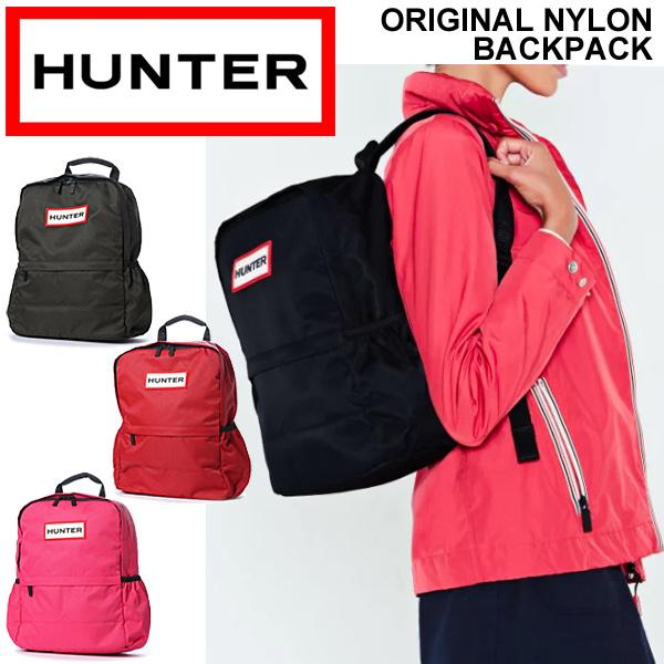 リュックサック デイパック HUNTER ハンター ORIGINAL NYLON BACKPACK ナイロン カジュアル 鞄 シンプル おしゃれ A4対応 ユニセックス 正規品/UBB5028KBM