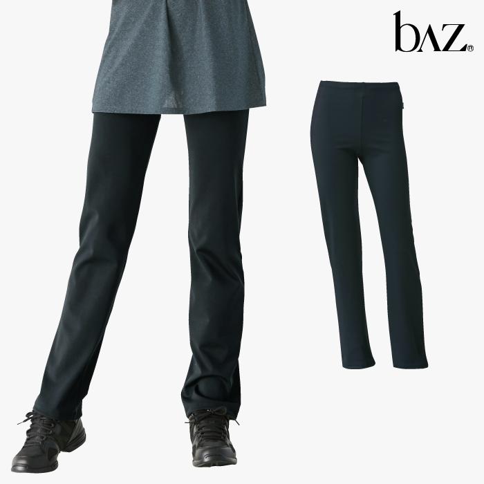 NAWA b∧z(バズ) 着圧ストレートパンツ レディース 健康体操 ウォーキング ファッション M/L/LL ブラック