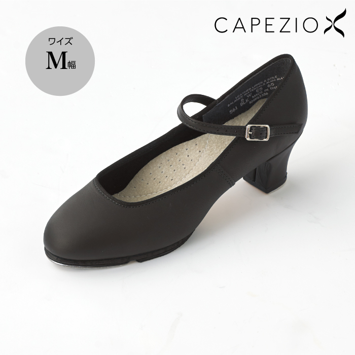CAPEZIO(カペジオ) ヒールタップシューズ M幅 タップダンス ダンスシューズ 22.0~26.0cm ブラック