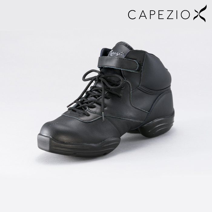 CAPEZIO(カペジオ) ダンススニーカー ダンス ジャズ ヒップホップ エクササイズ フィットネス スプリット シューズ 26.0~30.0 ブラック