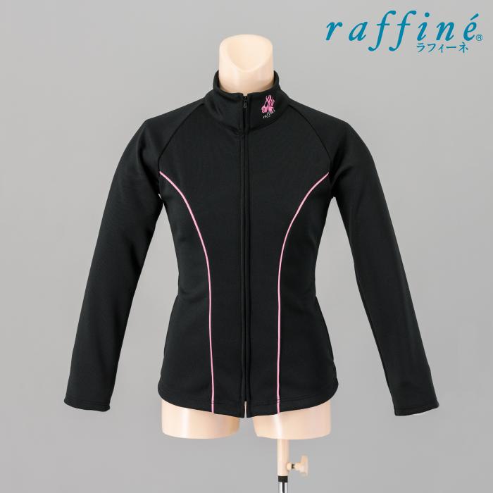 NAWA raffine(ラフィーネ) ジャケット レディース ガールズ バレエ ダンス ウォームアップ ジャージ 140/150/M/L ブラック