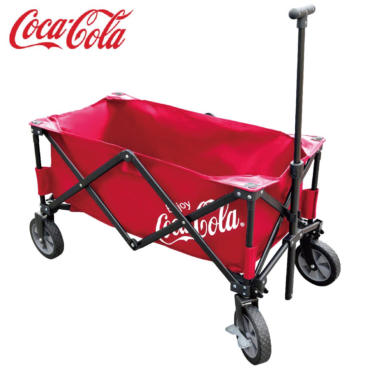 コカ・コーラ Coca-Cola キャリーワゴン R CC19-08K レッド コカコーラ コーラ DOSHISHA ドウシシャ 夏 アウトドア バーベキュー BBQ 【SG】