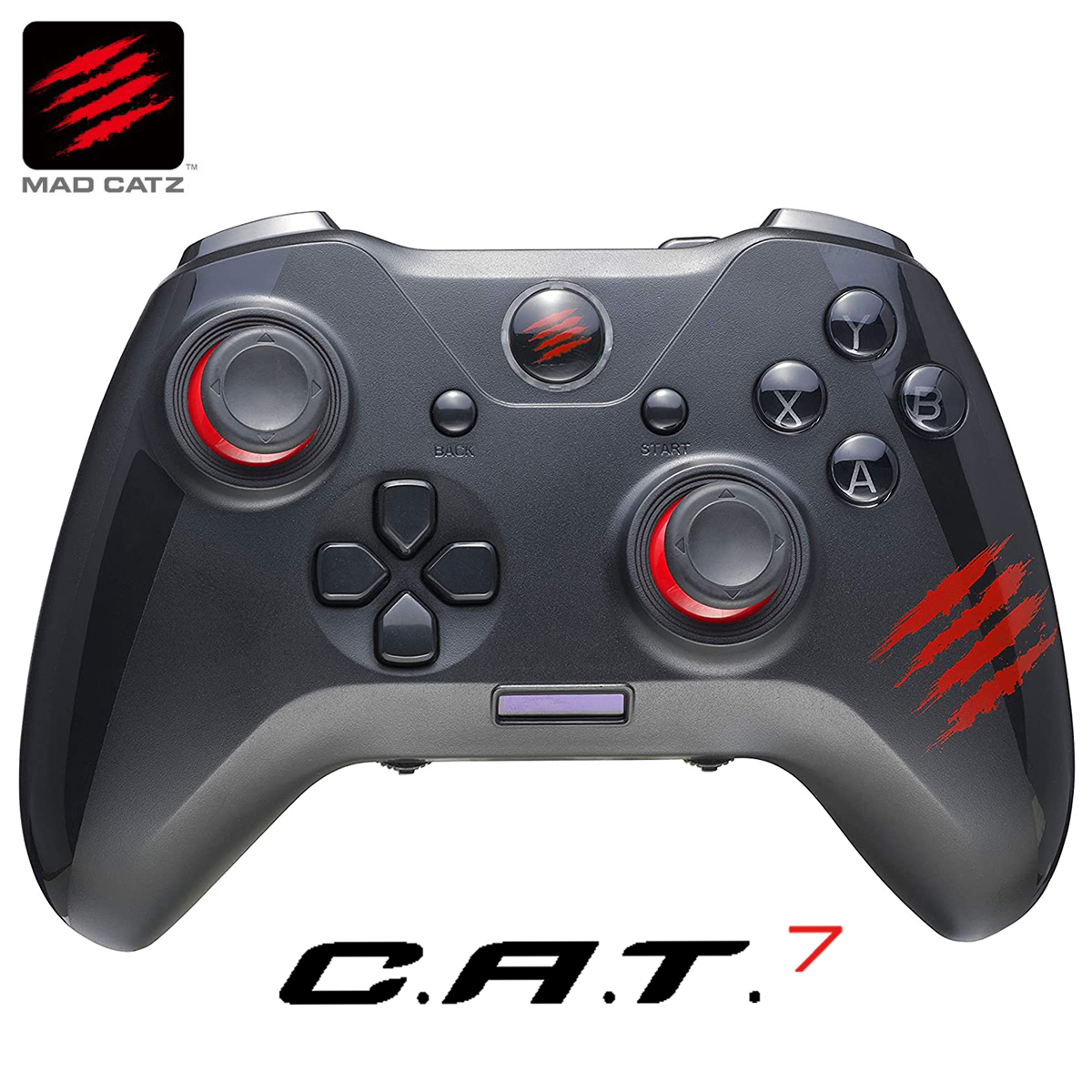 2つのプロファイル管理とマクロ機能により 複雑な操作を容易に実行 Mad Catz C.A.T. 7 ゲーミングパッド ゲームパッド コントローラー ショップ 日本産 GCPCCAINBL000-0J 06 ジョイパッド MADCATZ マッドキャッツ CAT7