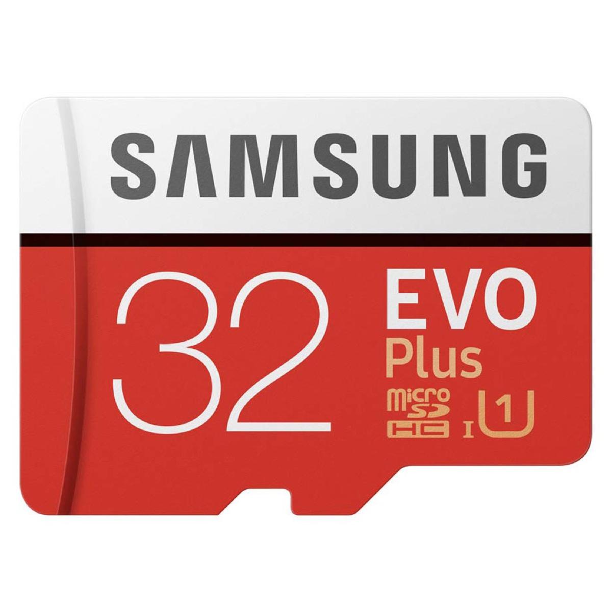 マーケティング SDHCTM変換アダプタ付属 SAMSUNG 日本 EVO Plus microSDHCカード 32GB アダプタ付属 マイクロSD 日本国内正規保証品 MB-MC32GA-IT サムスン microSDHC 全国送料無料 GOPRO 純正アクセサリー C ゴープロ