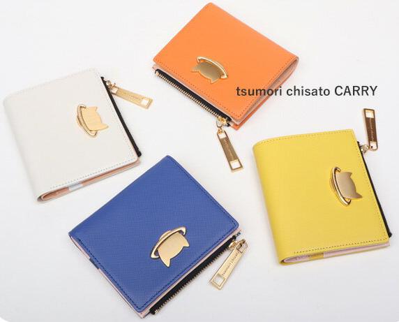 ツモリチサト サイフ ねこプラネット 薄型二つ折り財布 57989 ツモリチサト キャリー【tsumori chisato CARRY】