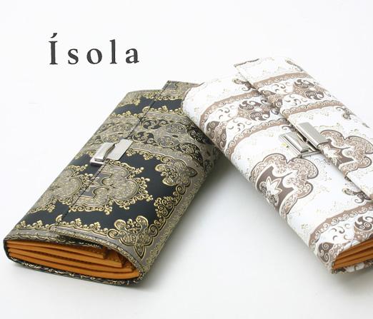 Isola(アイソラ) 財布 サイフ ギャルソンウォレット モロッコ三段錠長財布 12201