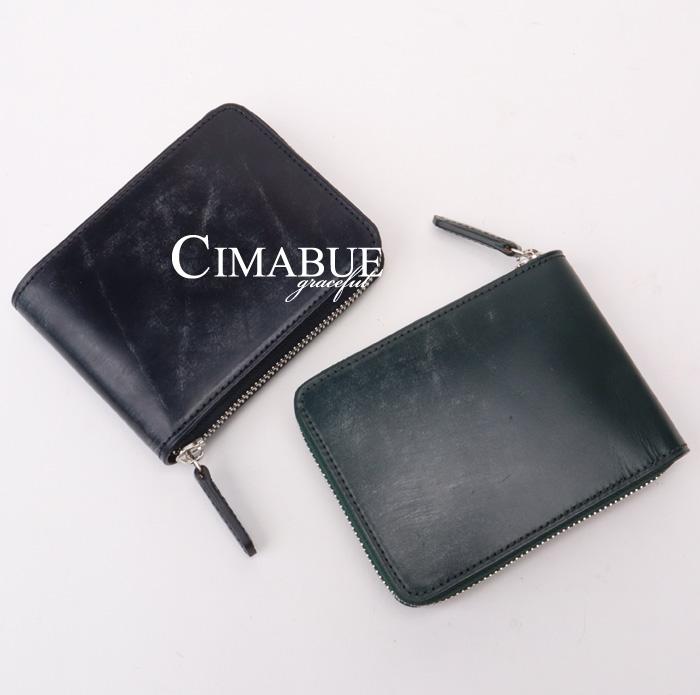 チマブエ CIMABUE graceful チマブエグレースフル サイフ キルガー社製ブライドルレザー ラウンド二つ折り財布 ウォレット 15312