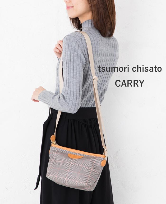 綿PVC グレンチェックショルダーバッグ 50695ツモリチサト キャリーtsumori chisato CARRY