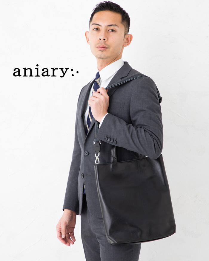 ★ポイント10倍 aniary アニアリ アンティークレザー 縦長ショルダートートバッグ 01-03010