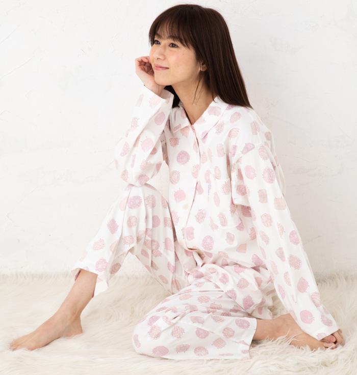 ワコール 睡眠科学 動「寝返りを考えたパジャマTM」50×40ロイヤルオックスストレッチpt羊 YDS206ナイティ