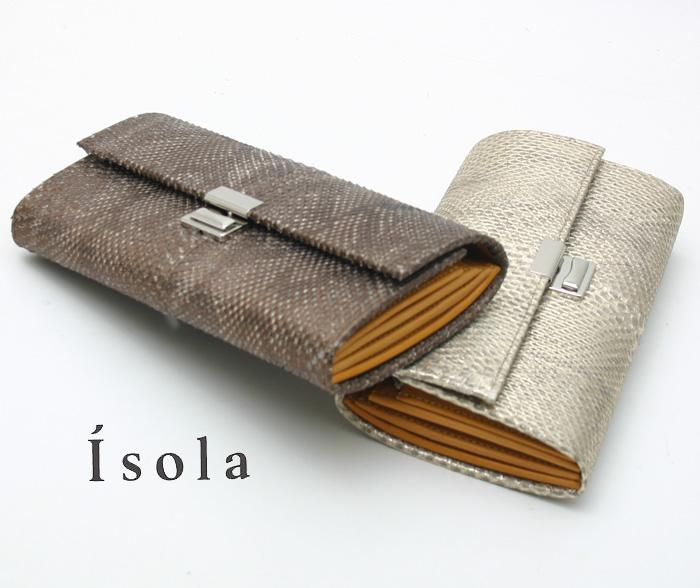 Isola アイソラ 財布 サイフ ギャルソンウォレット マンバ長財布三段錠 8202