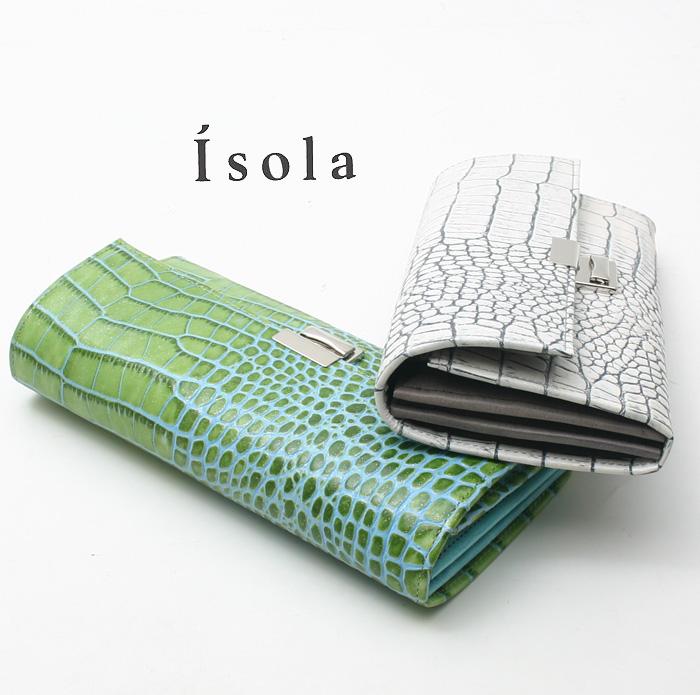 Isola アイソラ 財布 サイフ ギャルソンウォレット カーリ2長財布三段錠スリムタイプ 12603
