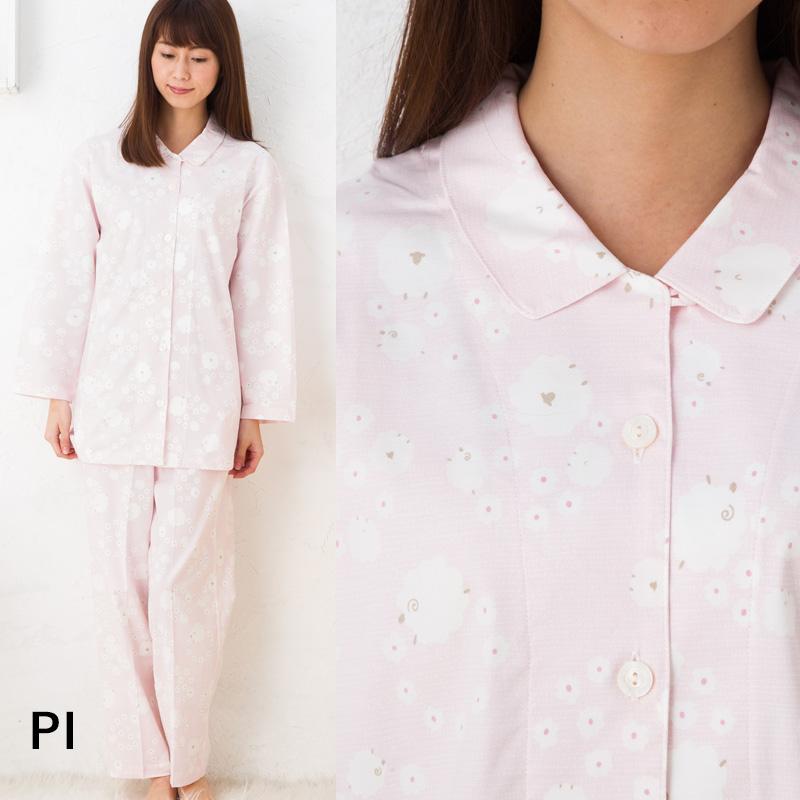 ワコール 睡眠科学 パジャマ 部屋着ロイヤルオックスストレッチptひつじの輪 YDV118ルームウェア ナイティ