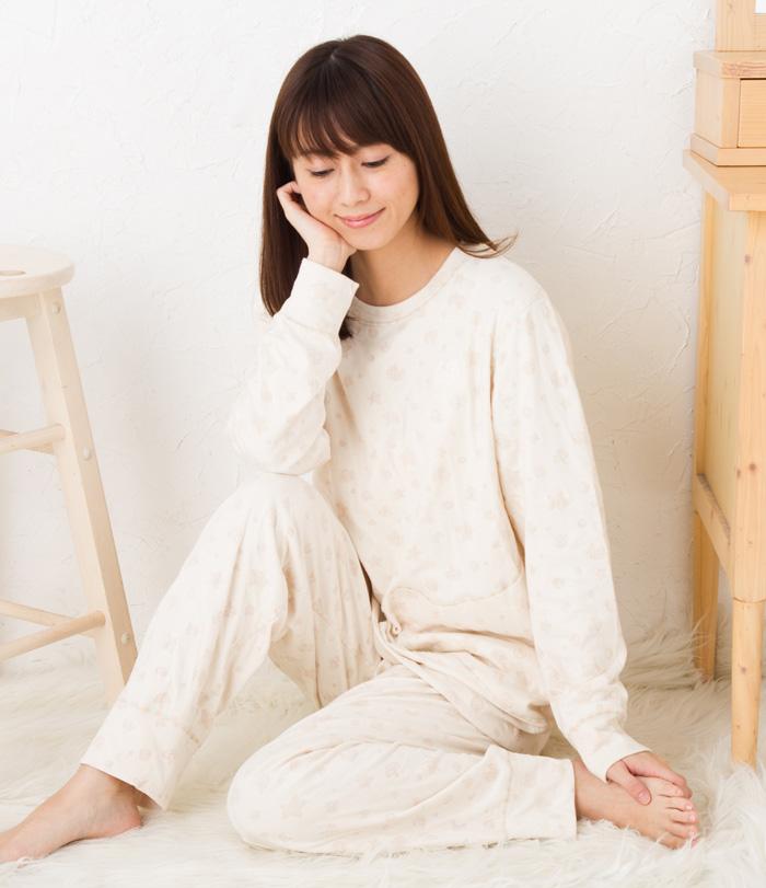 ワコール ツモリチサト パジャマ 部屋着 tsumori chisato SLEEP30オーガニックボタニカル・星ドット UDQ216ツモリチサトスリープ ナイティ