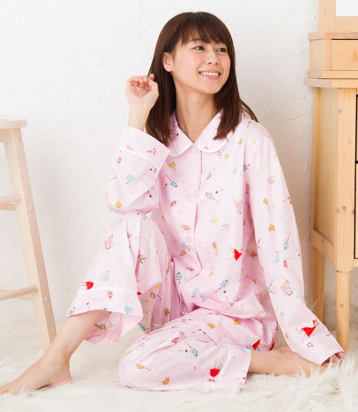 ワコール ツモリチサト パジャマ 部屋着 tsumori chisato SLEEP80綿サテンソフト加工ptスペースネコズキン 前開き UDQ103ツモリチサトスリープ ナイティ