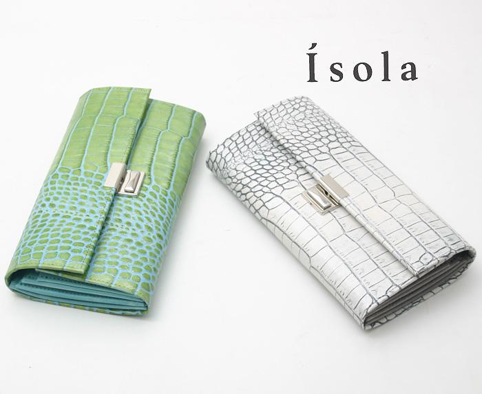 Isola(アイソラ) 財布 サイフ ギャルソンウォレット カーリ2 三段錠長財布 12601
