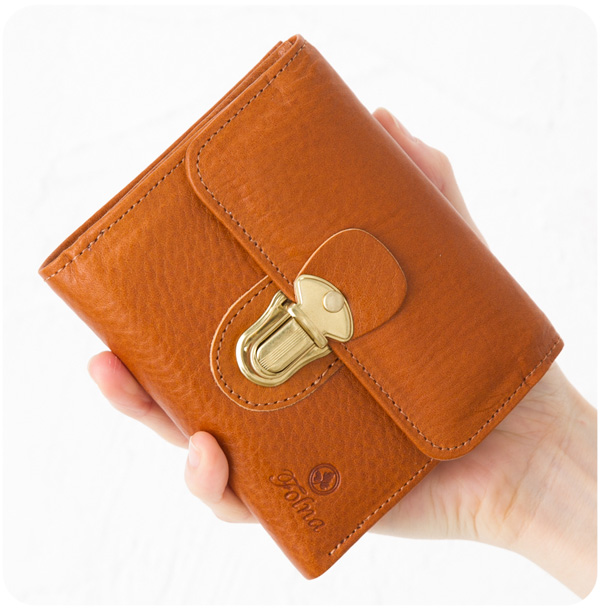 フォルナ 財布 サイフ folna ヌメ革|差し込み金具付き 二つ折り財布 2993650