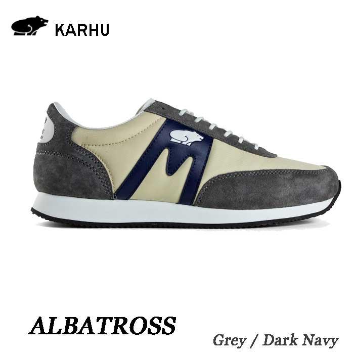 カルフ アルバトロス KH802505 グレー/ダークネイビー KARHU Albatoross   Grey / Dk Navy レディース メンズ ユニセックス 靴 クッションシューズ スニーカー シロクマ 北欧
