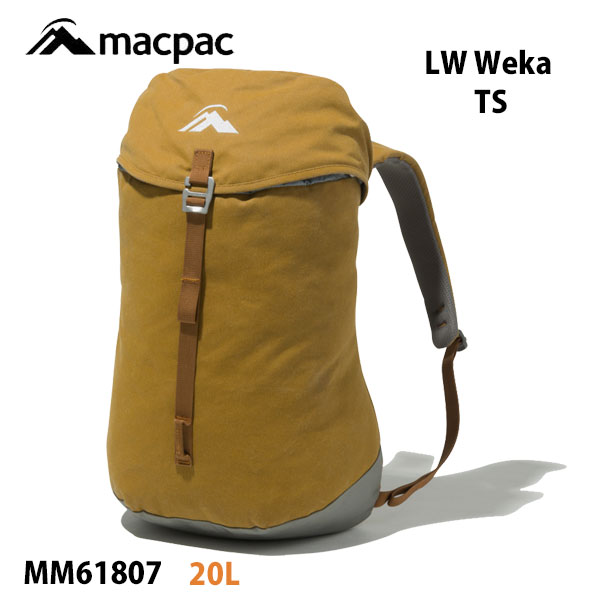マックパック ライトウエイト ウェカ MM61807 タソック macpac LW Weka 20L (TS)タソックリュックサック バックパック アウトドア