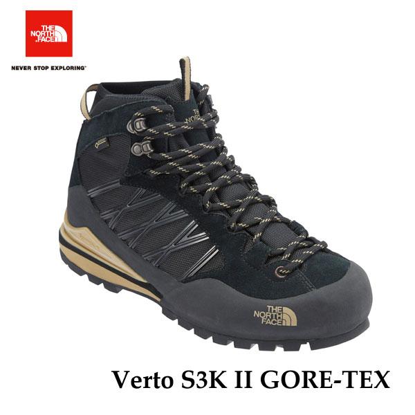 ザ ノースフェイス ヴェルトS3KIIGORE-TEX(ユニセックス) 防水 トレッキング 山 ブーツ The North Face Verto S3K II GORE-TEX NF51611(JK)TNFブラック×ケルプタン