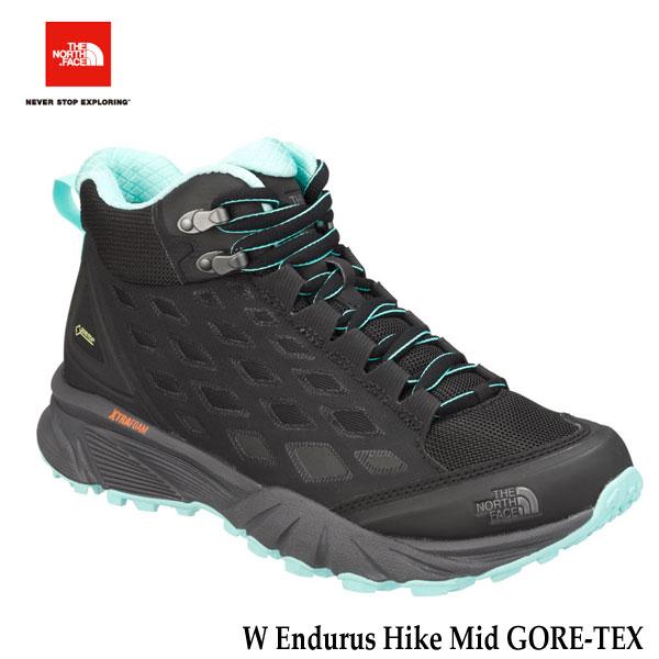 ザ ノースフェイス エンデュラスハイクミッド GORE-TEX(レディース)NFW01721 KA ゴアテックス 防水 The North Face W Endurus Hike Mid GORE-TEX (KA)TNFブラック×アクアスプラッシュ